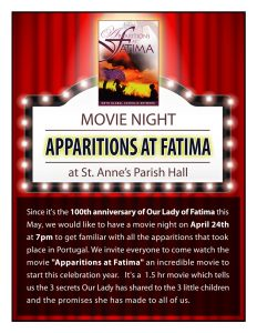 Movie Night - Apparitions at Fatima